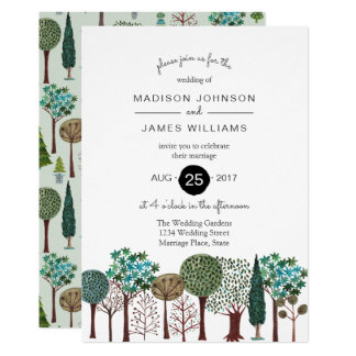 Trees Forest Garden Woodland Wedding | Invitation