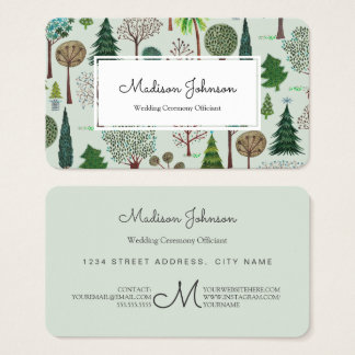 Trees Forest | Monogram Custom | Business Cards