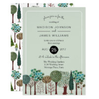 Trees Forest Woodland | Wedding | Invitation