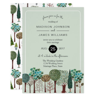 Trees Forest Woodland | Wedding | Invitation