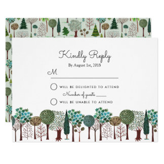Trees Forest Woodland | Wedding | RSVP Card