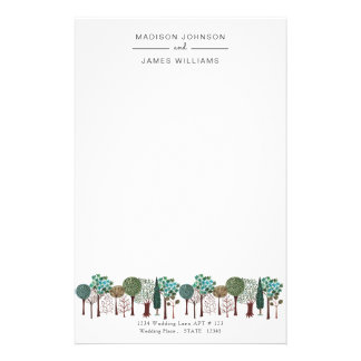 Trees Forest Woodland | Wedding | Stationery