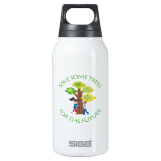Trees, Forests, Hugger Insulated Water Bottle