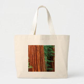 Trees Giant Sequoia Mariposa Grove Yosemite Large Tote Bag