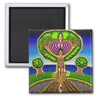 Trees got Soul  2 Inch Square Magnet