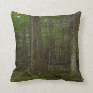 Trees, Green Forest Earth Day Nature Art Throw Pillow