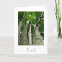 Trees Greeting Card Design
