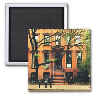 Trees Grow in Brooklyn 2 Inch Square Magnet