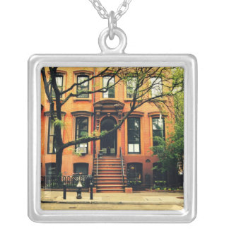 Trees Grow in Brooklyn Silver Plated Necklace