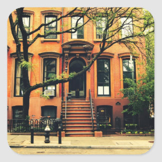 Trees Grow in Brooklyn Square Sticker