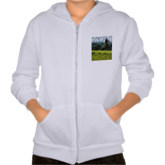 Trees guarding the farm hooded sweatshirt
