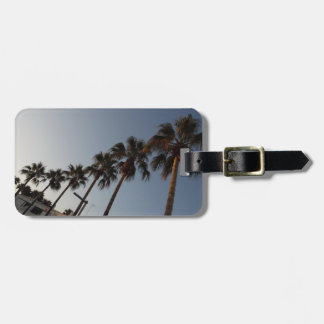 Trees holiday luggage tag