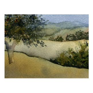 """""""Trees in a Field #1"""" Country Roads Postcard"""
