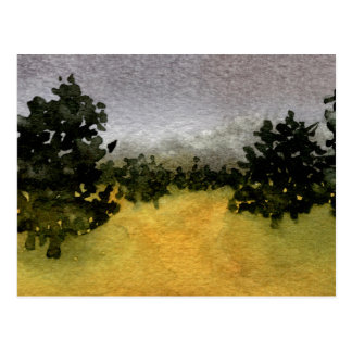 """""""Trees in a Field 2"""" """" Country Roads Postcard"""