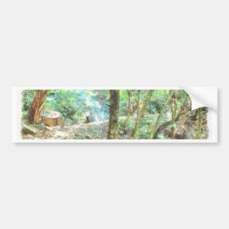 Trees in a jungle bumper sticker