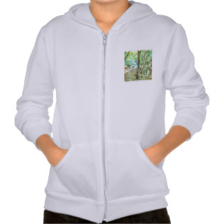 Trees in a jungle hooded pullover