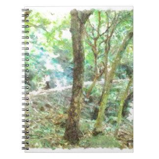 Trees in a jungle notebook
