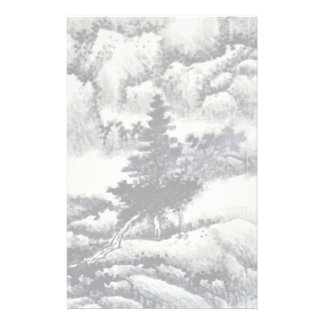 Trees In A Landscape By Kung Hsien (Best Quality) Stationery
