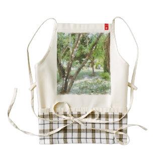 Trees in a landscape zazzle HEART apron
