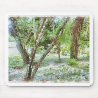 Trees in a local compound mouse pad