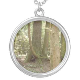 Trees in an Awkward Position Silver Plated Necklace