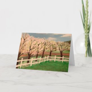 Trees In Bloom Card