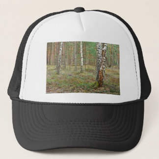Trees In Deep Northern Forest Trucker Hat