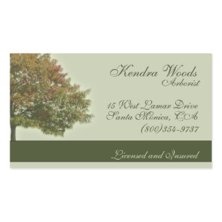 Trees in Fall Business Card