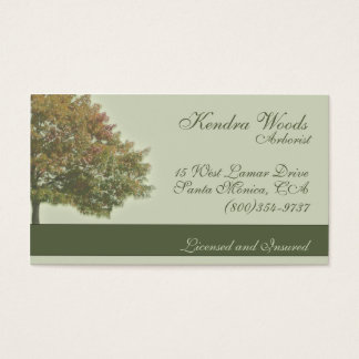 Santa monica business cards templates zazzle trees in fall business card colourmoves