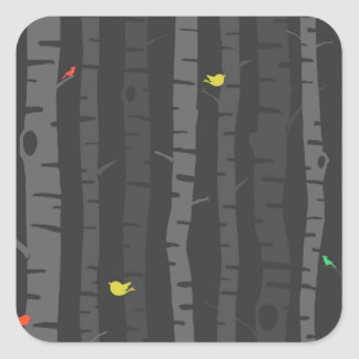 Trees in Fall Square Sticker