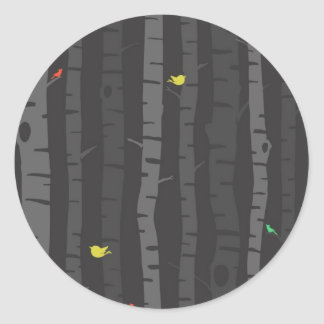 Trees in Fall Round Stickers