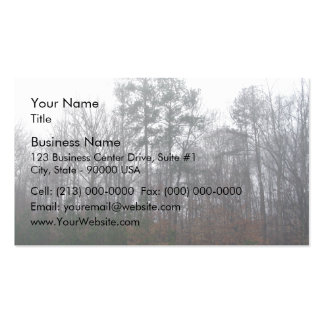 Trees in Fog Double-Sided Standard Business Cards (Pack Of 100)