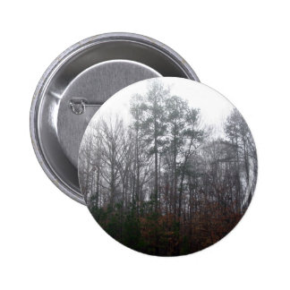 Trees in Fog Pinback Button