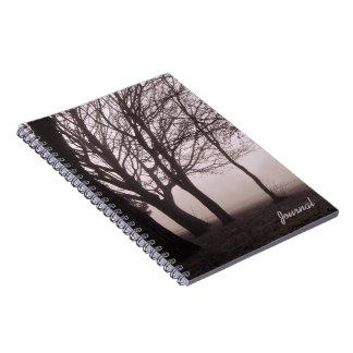 Trees in Fog Cover journal
