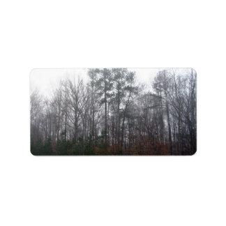Trees in Fog Address Label