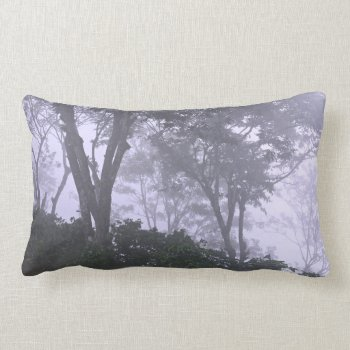 Trees In Fog Lumbar Pillow by whatawonderfulworld at Zazzle