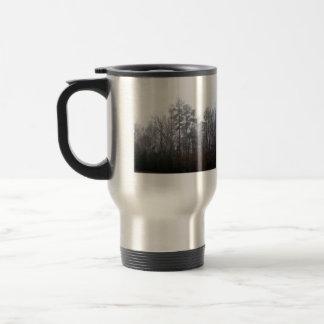 Trees in Fog 15 Oz Stainless Steel Travel Mug