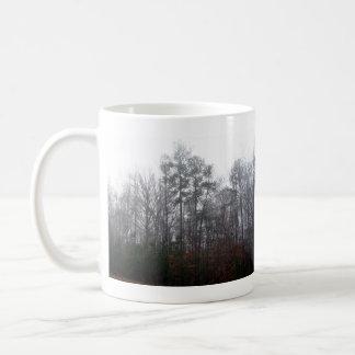 Trees in Fog Classic White Coffee Mug