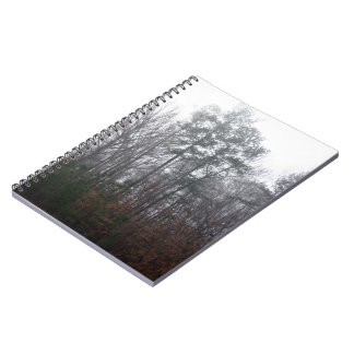 Trees in Fog Spiral Note Books