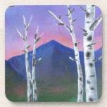 Trees in front of Mountains II Beverage Coasters