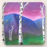 Trees in front of Mountains III Drink Coaster