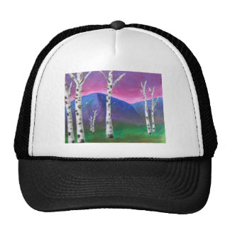 Trees in front of Mountains III Trucker Hat