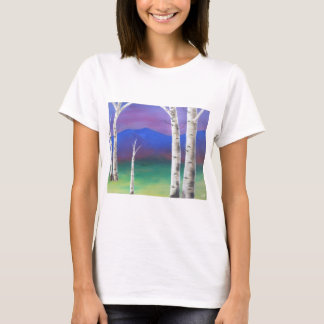 Trees in front of mountians at Sunset T-Shirt