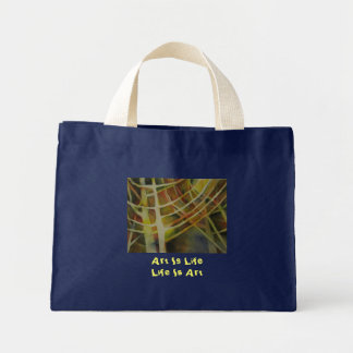 "Trees in Light, ""Art is Life, Life Is Art"" Canvas Bags"