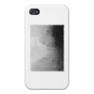Trees in Mist. Black and White. iPhone 4/4S Case