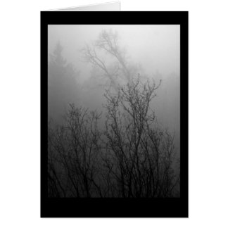 Trees in Mist Card