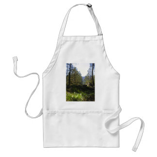Trees in nature adult apron