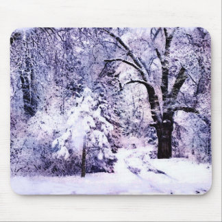 Trees in Snow Mouse Pad