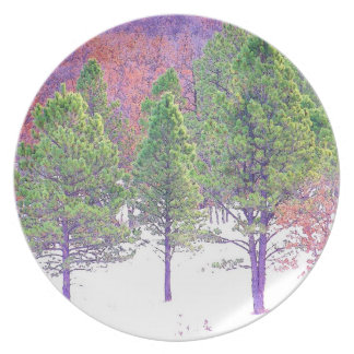 Trees in Snow Plate