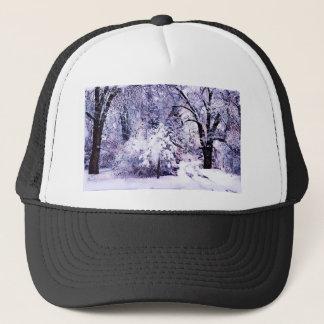 Trees in Snow Trucker Hat